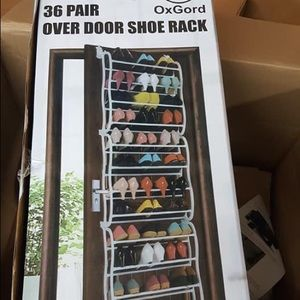 Over the door shoe racks